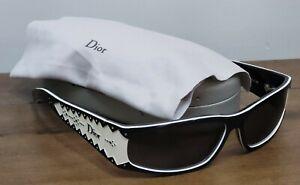 Christian Dior D'trick 1 Spectator WomenS Sunglasses Black White dtrick  PERFECT