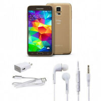 """Or Gold 5.1"""" Samsung Galaxy S5 G900V 4G LTE 16GB 16MP GPS Débloqué Téléphone"""