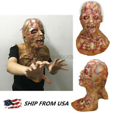HOT HALLOWEEN ADULT THE DREADED Zombie Horror Scary monster mummy Mask Prop
