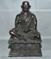 """10 """"siège cuivre rouge Tibet Je Tsongkhapa Tsong-Kha-Pa Guru Statue de Bouddha"""
