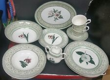 19 pcs  Royal Horticultural Society Plates Applebee Collection Made in England