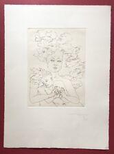 Jonas Hafner, Kinder des Olymp, Radierung, 1974, handsigniert und datiert