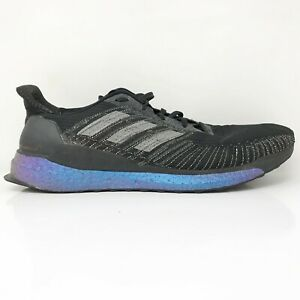 Adidas Mens Solar Boost 19 EG2363 Black Running Shoes Lace Up Low Top Size 12