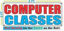 COMPUTER CLASSES Banner Sign NEW Larger Size Best Quality for the $$$