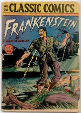 Classics Comics #26 ORIGINAL 1st EDITION (1945) - Frankenstein GD 2.0  Webb art