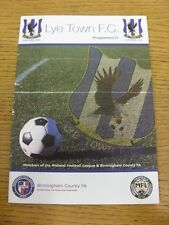 23/01/2016 Lye Town v Westfields  (folded, damaged on back). Any faults with thi