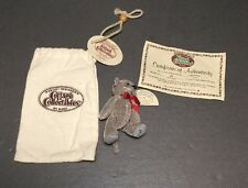 """Mini Cottage Collectibles by Ganz - Charlet Jointed Gray Cat 3"""" COA"""