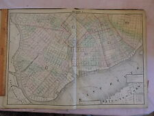 1874 original Beers Map Brooklyn City: Greenpoint Williamsburg Rare !