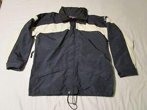 Wave Rave Gore-Tex Snowboard Ski Winter Jacket Coat Mens Black Cream Size Large