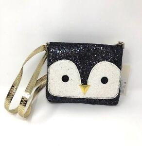 Cat & Jack Girls Winter Penguin Glitter Sparkle Holiday Purse Bag Christmas
