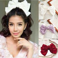 Fashion Three-Tier Bow Ladies Fabric Headwear Hairpin Spring Clip Girls