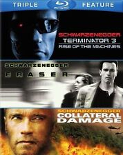 ERASER / TERMINATOR 3 / COLLATERAL DAMAGE - Sealed Region free for UK