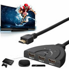 3 Port 1080P HDMI AUTO Switch Splitter Switcher HUB Box Cable for DVD HDTV STB G