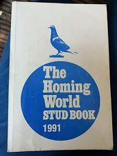 The Homing World Stud Book 1991. Royal Pigeon Racing Assoc. Xmas pigeon gift