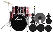 Schlagzeug Komplettset plus Dämpfer XDrum Semi rot Drumset mit Zubehör