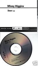 MISSY HIGGINS Steer 1TRK PROMO RADIO DJ CD Single 2008