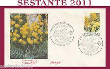 ITALIA FDC ROMA FIORI D'ITALIA 1983 MIMOSA ANNULLO PALLANZA NO H349