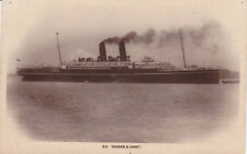 Postcard Ship SS KAISAR & HIND photo image unused 2 stack P & O LINES