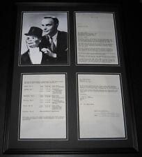 Edgar Bergen Signed Framed 1968 TV Contract & Photo Display