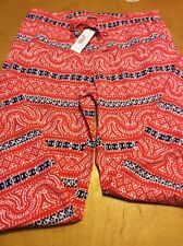 Vineyard Beach Lounge Pant Print Genoa Size Small