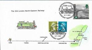 GB 1997 150 Years York,Newcastle & Berwick Railway Signed.Leeming Bar,Northaller