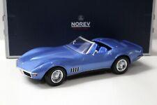 1:18 Norev Chevrolet Corvette Convertible 1969 blue