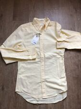 GANT Diamond G The Perfect Oxford Shirt, Fitted - Soft Yellow Size Medium New