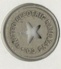 """UNITED ELECTRIC RAILWAYS CO. """"GOOD FOR ONE FARE"""" TOKEN"""