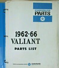 Chrysler Valiant 1962-1966 parts catalogue. Excellent condition. Gen. Chrysler.