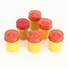 :Kodak Yellow & Red Colored Metal 35mm Film Canisters - Lot of 6