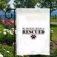 Favorite Breed Is Rescued New Small Garden Yard Flag Dog Cat Adoption