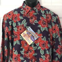 New Reyn Spooner Joe Kealohas Shirt Purple Red Hibiscus Hawaiian Small Hawaii
