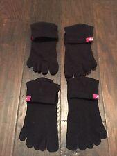 Injinji Run Toe Socks Black Size Large TWO PAIRS!!