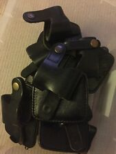 Ex Police Black Leather PR24 Baton Holder.