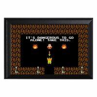 It's Dangerous To Go Alone! Retro Zelda Nerdy Wall Plaque Key Hanger Holder
