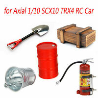 1Set Wooden Box Oil Drum Fire Extinguisher for Axial 1/10 SCX10 TRX4 RC Crawler