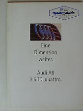 Prospekt Audi A6 2.5 TDI quattro Limousine/Avant, 4.1995, 18 Seiten