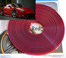Red 8M Car Truck Wheel Rim Protector Tire Guard Line Rubber Moulding Decoration
