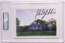 Phil Mickelosn Signed Masters Greeting Card PSA  Agusta National