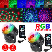 2xRGB Party Disco Lights Ball Sound Activated Strobe Led DJ Bulb Dance Lamp 2020