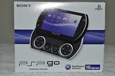 Sony PSP go Launch Edition 16 GB Piano Black Handheld Game System PSP-N1001 Mint