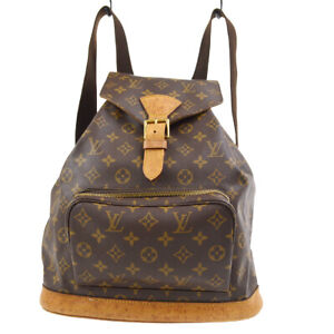 LOUIS VUITTON MONTSOURIS GM BACKPACK PURSE MONOGRAM M51135 gs 91033