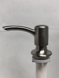 Kitchen Sink Soap Dispenser Brushed Nickel Head Pump--Shampoo-Lotion-Soap