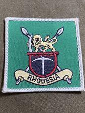 Rhodesia Flag Patch Rhodesian Lion & Tusk
