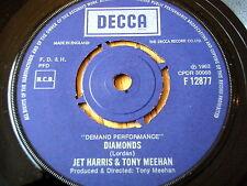 """JET HARRIS & TONY MEEHAN - DIAMONDS / SCARLETT O'HARA   7"""" VINYL"""