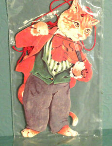 VINTAGE GORDON FRASER CAT GIFT TAGS 4 PACK 1984 NEW SEALED.