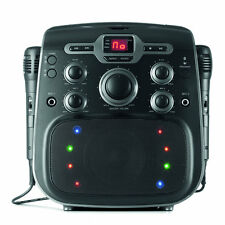 Bluetooth Karaoke Party Machine 2 Mics CD Player Boombox Disco Light Birthday
