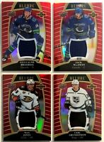 4 Card Jersey Lot 2019-20 Upper Deck Allure Red Rainbow Rookies Canucks Kings