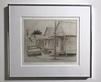 Original Etching Of Row Of Houses Titled Artist Proof By Mark M