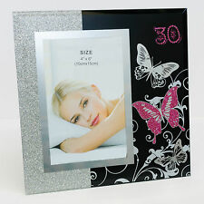 BNWT Happy 30th Birthday Glass Photo Frame 10x15cm | Gift for Her | Butterfly